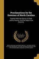 PROCLAMATIONS BY THE GOVERNOR