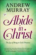 Abide in Christ Pdf/ePub eBook