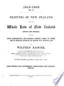 Statutes of New Zealand  1842 1893