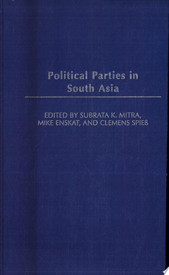 Political Parties in South Asia