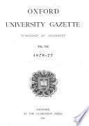 Oxford University Gazette