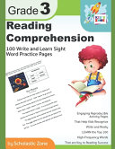 Reading Comprehension Grade 3, 100 Write-and-Learn Sight Word Practice Pages