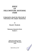 Birds of Yellowstone National Park
