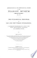 The Fundamental Principles Of Old And New World Civilizations