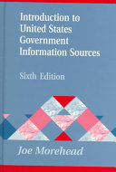 Introduction To United States Government Information Sources Book PDF
