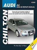 Chilton's Audi A4, 2002-08 Repair Manual