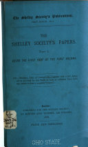 Shelley Society s Publications