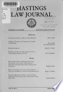 The Hastings Law Journal