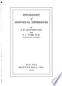 Psychology of Individual Differences
