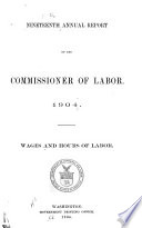 Wages And Hours Of Labor 1890 1903