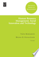 Human Resource Management  Social Innovation and Technology Book PDF