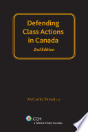 Defending Class Actions in Canada