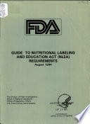Guide to Nutritional Labeling and Education Act  NLEA  Requirements