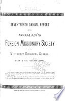 Annual Report of the Woman's Foreign Missionary Society of the Methodist Episcopal Church
