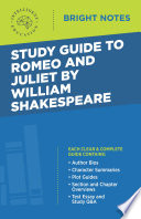 Study Guide To Romeo And Juliet By William Shakespeare Book