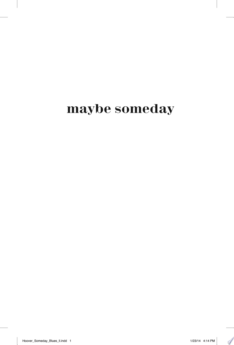 Maybe Someday image