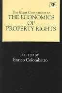 The Elgar Companion To The Economics Of Property Rights Book PDF