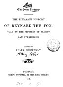 The pleasant history of Reynard the fox  told by the pictures of A  van Everdingen  ed  by Felix Summerly