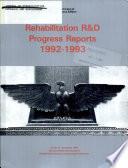 Rehabilitation R   D Progress Reports Book