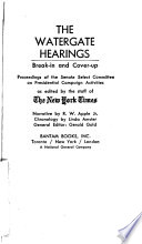 The Watergate Hearings  Break in and Cover up