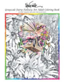 Sheila Wolk GRAY SCALE FAIRY  Fantasy Art Adult Coloring Book Book