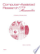 Computer   Assisted Research in the Humanities Book