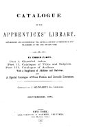 Catalogue of the Apprentices  Library