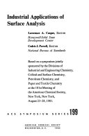 Industrial Applications of Surface Analysis Book