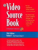 Video Sourcebook: A Guide to Programs Currently Available on Video ...