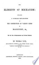The Elements of Mechanism  Etc