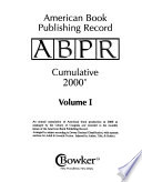 American Book Publishing Record  : BPR annual cumulative , Band 1