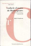 Traducir el teatro de Shakespeare. Figuras retóricas iterativas en Ricardo III