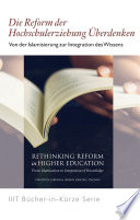 Books-in-Brief: Rethinking Reform in Higher Education (German Language)