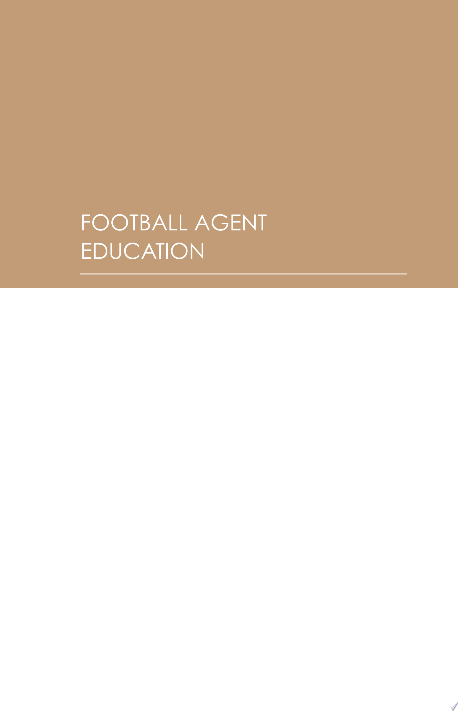 How to Become a Football Agent  The Guide