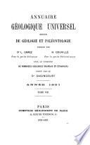 Annuaire géologique universel