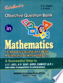 Objective Question Bank in Mathematics