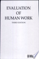 """Evaluation of Human Work, 3rd Edition"" by John R. Wilson, NIGEL CORLETT"