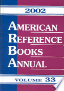 American Reference Books Annual, 2002