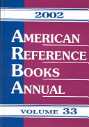 American Reference Books Annual 2002