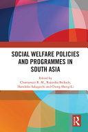 Social Welfare Policies and Programmes in South Asia Book