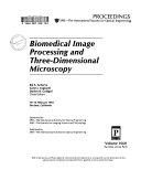 Biomedical Image Processing And Three Dimensional Microscopy Book PDF