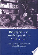 Biographies and Autobiographies in Modern Italy