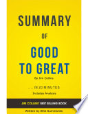 Good To Great  by Jim Collins   Summary   Analysis Book
