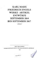 Karl Marx Friedrich Engels Gesamtausgabe (MEGA): Abt. Werke, Artikel, Entwürfe