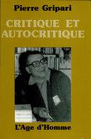 Critique et autocritique ebook