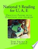 National 5 Reading for U, A, E