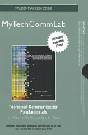 Technical Communication Fundamentals New Mytechcommlab With Pearson Etext Standalone Access Card