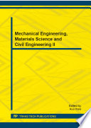 Mechanical Engineering Materials Science And Civil Engineering Ii Book PDF