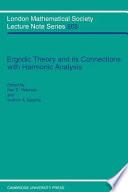 Ergodic Theory and Harmonic Analysis  : Proceedings of the 1993 Alexandria Conference