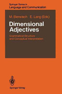 Dimensional Adjectives